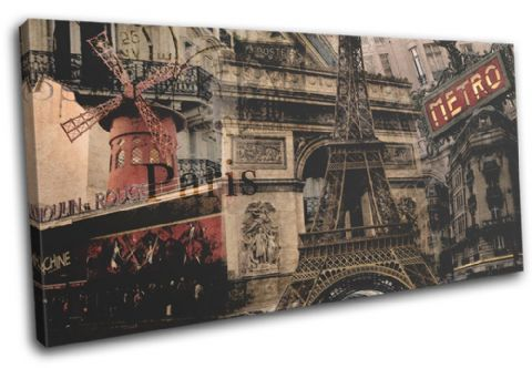 Paris Vintage Collage City - 13-6015(00B)-SG21-LO